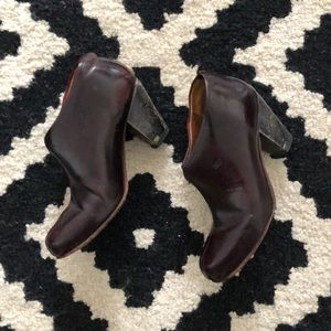 Rachel Coney Dark Brown Leather Heel Booties Sz 6